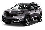 2019 Citroen C5-Aircross Shine 5 Door SUV Angular Front stock photos of front three quarter view