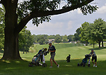 Braden Hoisington (left) of the Persimmon Woods Golf Club and Kal Kolar of the Gateway PGA golf course move to the next tee on the second day of the Metropolitan Amateur Golf Association's 20th Junior Amateur Championship being held at the St. Clair Country Club in Belleville, IL on July 2, 2019. <br /> Tim Vizer/Special to STLhighschoolsports.com