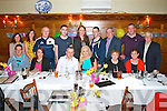Pictured at the 30th birthday dinner of Jennifer Daughton in Leens hotel, Abbeyfeale on Saturday night were Back Row L-R : Elaine Breen, Maura Daughton, Dermot Breen, Duagh, Michael Quirke, Mary Healy, Abbeyfeale, Maurice Daughton, Jim Daughton, Mike Daughton, Duagh and Maurice Quirke Abbeyfeale.  Front Row L-R : Tom McCarthy, Mountcollins, Kathleen Quirke, Abbeyfeale, Patrick, Jennifer and Mary Daughton, Duagh, Carmel Quirke, Abbeyfeale.