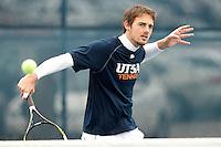 SAN ANTONIO, TX - JANUARY 23, 2015: The Old Dominion University Monarchs defeat the University of Texas at San Antonio Roadrunners 5-2 at the UTSA Tennis Center. (Photo by Jeff Huehn)