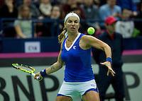 Moskou, Russia, Februari 7, 2016,  Fed Cup Russia-Netherlands, Kuznetsova (RUS)<br /> Photo: Tennisimages/Henk Koster