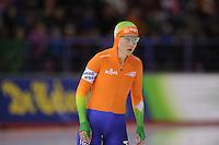 SCHAATSEN: CALGARY: Olympic Oval, 08-11-2013, Essent ISU World Cup, 500m, Laurine van Riessen (NED), ©foto Martin de Jong