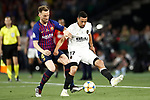 FC Barcelona's Ivan Rakitic (l) and Valencia CF's Francis Coquelin during Spanish King's Cup Final match. May 25,2019. (ALTERPHOTOS/Carrusan)