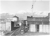 D&amp;RGW #482 half-in, half-out of the Salida roundhouse.<br /> D&amp;RGW  Salida, CO