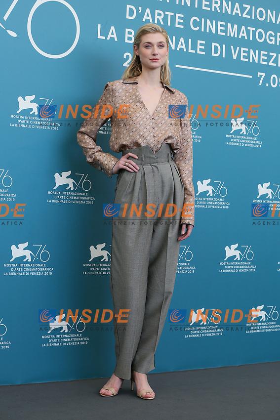 "VENICE, ITALY - SEPTEMBER 07: Elizabeth Debicki attends ""The Burnt Orange Heresy"" photocall during the 76th Venice Film Festival at Sala Grande on September 07, 2019 in Venice, Italy. (Photo by Mark Cape/Insidefoto)<br /> Venezia 07/09/2019"