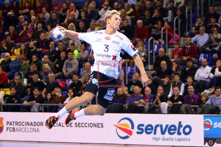 VELUX EHF 2019/20 EHF Men's Champions League Group Phase - Round 8.<br /> FC Barcelona vs Aalborg Handbold: 44-35.<br /> Janus Dadi Smarason.