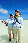 Cathy Beck and Leah Sodowick Saltwater Fly Fishing in Christmas Island