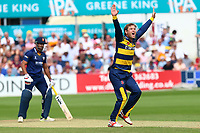 Colin Ingram with an appeal for the wicket of Ravi Bopara during Essex Eagles vs Glamorgan, NatWest T20 Blast Cricket at The Cloudfm County Ground on 16th July 2017