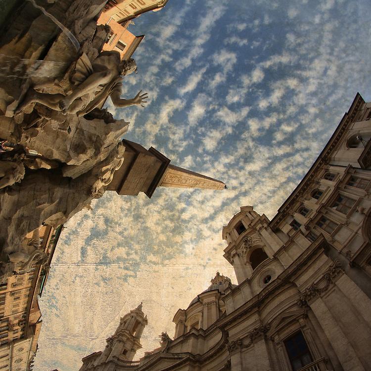 Rome, Piazza Navona e Fontana dei 4 Fiumi e Sant'Agnese in Agone
