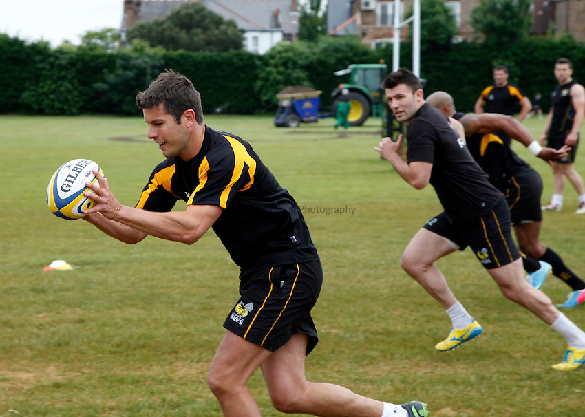 Photo: Richard Lane/Richard Lane Photography. London Wasps Training. 17/06/2013. Hugo Southwell.