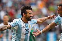 Seattle, WA - Tuesday June 14, 2016: Ezequiel Lavezzi celebrates scoring during a Copa America Centenario Group D match between Argentina (ARG) and Bolivia (BOL) at CenturyLink Field.