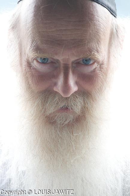 rabbi , slomo , portrait, Hasidism ,  skullcap, kippah  ,yamakas,<br /> Looking Front, Gray Hair,grey beard woodbourne  n.y. woodbourne