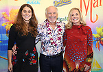 """Delaney Buffett, Jimmy Buffett and Jane Buffett attending the Broadway Opening Night Performance of  """"Escape To Margaritaville"""" at The Marquis Theatre on March 15, 2018 in New York City."""