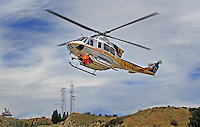 July. 10, 2009; Los Angeles, CA, USA; Los Angeles County Fire Department helicopter. Mandatory Credit: Mark J. Rebilas