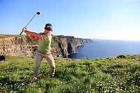 Ricardo Gouveia (POR) at the Cliffs of Moher after Wednesday's Pro Am of the Dubai Duty Free Irish Open 2019, held at Lahinch Golf Club, Lahinch, Ireland. 3rd July 2019.<br /> Picture: Eoin Clarke | Golffile<br /> <br /> <br /> All photos usage must carry mandatory copyright credit (© Golffile | Eoin Clarke)