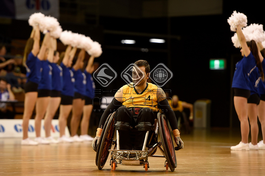 Opening Ceremony - Jake Howe (Aus)<br /> Australian Wheelchair Rugby Team<br /> 2018 IWRF WheelChair Rugby <br /> World Championship / Day 1<br /> Sydney  NSW Australia<br /> Sunday 5th August 2018<br /> © Sport the library / Jeff Crow / APC