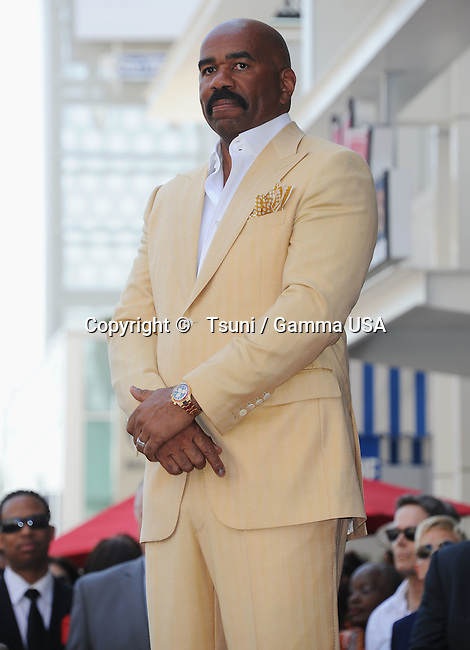 Steve Harvey was  Honored with a Star on the hollywood Walk of Fame in Los Angeles.