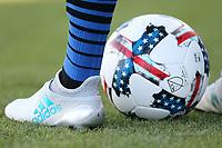 San Jose, CA - Saturday July 29, 2017: adidas ball and shoes, Shea Salinas during a Major League Soccer (MLS) match between the San Jose Earthquakes and Colorado Rapids at Avaya Stadium.