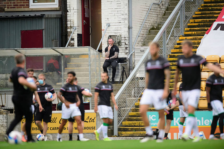 Lincoln City manager Michael Appleton watches the pre match warm up<br /> <br /> Photographer Chris Vaughan/CameraSport<br /> <br /> Carabao Cup Second Round Northern Section - Bradford City v Lincoln City - Tuesday 15th September 2020 - Valley Parade - Bradford<br />  <br /> World Copyright © 2020 CameraSport. All rights reserved. 43 Linden Ave. Countesthorpe. Leicester. England. LE8 5PG - Tel: +44 (0) 116 277 4147 - admin@camerasport.com - www.camerasport.com