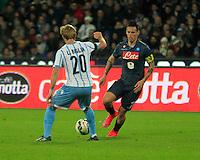 Marek Hamsik  durante l'incontro di ritorno della semifinale  Tim Cup tra     Napoli - Lazio allo  Stadio San Paolo  di Napoli ,08 Aprile  2015