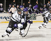 Alex Kubiak (Bentley - 17), Shayne Stockton (HC - 27) - The Bentley University Falcons defeated the College of the Holy Cross Crusaders 3-2 on Saturday, December 28, 2013, at Fenway Park in Boston, Massachusetts.