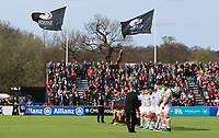 Players from both teams honour a minute silence in memory of the victims from the Westminster terror attack during the Aviva Premiership match between Saracens and Bath Rugby at Allianz Park, Hendon, England on 26 March 2017. Photo by Stewart  Wright  / PRiME Media Images.