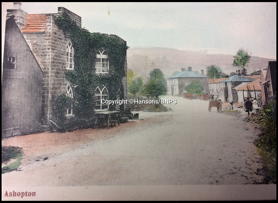BNPS.co.uk (01202 558833)<br /> Pic: Hansons/BNPS<br /> <br /> Old Toll House in Ashopton.<br /> <br /> Lost World - Haunting picture album reveals the lost villages of Ashopton and Derwent in Derbyshire.<br /> <br /> A set of remarkable photos of a 'drowned' British village which has been under water for the past 74 years has come to light.<br /> <br /> The lost village of Ashopton was once an idyllic rural retreat in north Derbyshire but it was demolished in 1943 to make way for a large reservoir.<br /> <br /> The photo album reveals what the quaint village, which had a population of about 100 people, looked like in the late 19th and early 20th century before it became the Derbyshire Atlantis. <br /> <br /> It boasted a 17th century hall, a Victorian steepled church, a toll cottage, a Georgian coaching inn and dozens of cottages.