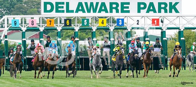 Lucky Long winning at Delaware Park on 8/25/16