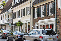 Quaint shops at Palmer Square, Princeton, New Jersey, USA