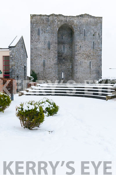 Listowel Castle in the Snow
