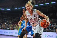 20191114 - CHARLEROI , BELGIUM : Belgian Cat Ann Wauters pictured during a female basketball match between the Belgian national team Belgian Cats and Ukraine , a first qualification game for the Belgian Cats in Group G towards the Women's European Eurobasket Basketball Championships 2021 in Lyon, Paris and Valencia, on Thursday 14 th November in the Dome in Charleroi , Belgium . PHOTO SPORTPIX | STIJN AUDOOREN