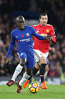 N'Golo Kante of Chelsea in action during Chelsea vs Manchester United, Premier League Football at Stamford Bridge on 5th November 2017