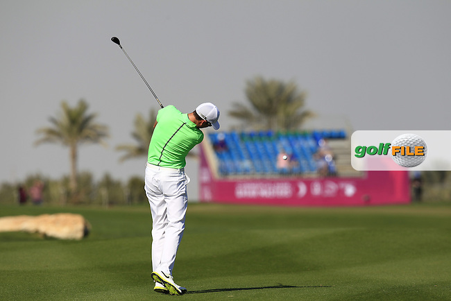 Ross FISHER (ENG) plays his 2nd shot on the 10th hole during Thursday's Round 2 of the 2015 Commercial Bank Qatar Masters held at Doha Golf Club, Doha, Qatar.: Picture Eoin Clarke, www.golffile.ie: 1/22/2015