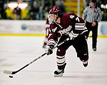 24 November 2009: University of Massachusetts Minuteman forward Casey Wellman, a Sophomore from Brentwood, CA, in action against the University of Vermont Catamounts at Gutterson Fieldhouse in Burlington, Vermont. The Minutemen defeated the Catamounts 6-2. Mandatory Credit: Ed Wolfstein Photo