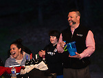 WATERTOWN, CT- 19 May 2016-051916EC14-  Frank Monteiro, the Chief Financial Officer of MacDermid Performance Solutions, helps announce raffle winners during the Greater Waterbury Campership Fund's annual fundraiser Thursday night. The event was at the Greater Waterbury YMCA's Camp Mataucha in Watertown. All money raised goes directly to the cost of sending children to camp. Erin Covey Republican-American