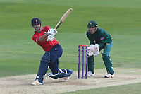 Ryan ten Doeschate hits six runs for Essex as Chris Read looks on from behind the stumps during Essex Eagles vs Notts Outlaws, Royal London One-Day Cup Semi-Final Cricket at The Cloudfm County Ground on 16th June 2017