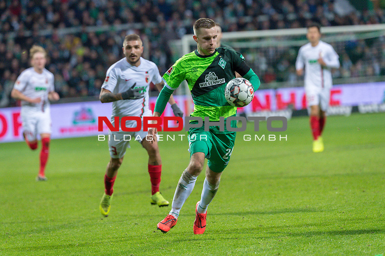 10.02.2019, Weser Stadion, Bremen, GER, 1.FBL, Werder Bremen vs FC Augsburg, <br /> <br /> DFL REGULATIONS PROHIBIT ANY USE OF PHOTOGRAPHS AS IMAGE SEQUENCES AND/OR QUASI-VIDEO.<br /> <br />  im Bild<br /> Johannes Eggestein (Werder Bremen #24)<br /> Einzelaktion, Ganzk&ouml;rper / Ganzkoerper<br /> <br /> <br /> Foto &copy; nordphoto / Kokenge