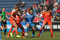 Bridgeview, IL - Saturday May 06, 2017: Stephanie McCaffrey during a regular season National Women's Soccer League (NWSL) match between the Chicago Red Stars and the Houston Dash at Toyota Park. The Red Stars won 2-0.