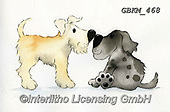 Kate, CUTE ANIMALS, LUSTIGE TIERE, ANIMALITOS DIVERTIDOS, paintings+++++Nose to nose.,GBKM468,#ac#, EVERYDAY ,dog,dogs