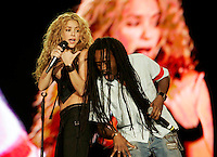 ARGANDA DEL REY, SPAIN - JUNE 04: Colombian singer Shakira performs on stage during the 'Rock in Rio' music festival on July 4 , 2008 in Arganda del Rey near Madrid.