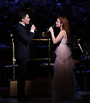 Ryan Silverman and Sierra Boggess during the Broadway Classics in Concert at Carnegie Hall on February 20, 2018 at Carnegie Hall in New York City.