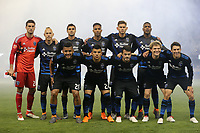 San Jose, CA - Saturday March 03, 2018: San Jose Earthquakes starting eleven  during a 2018 Major League Soccer (MLS) match between the San Jose Earthquakes and Minnesota United FC at Avaya Stadium.