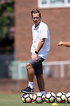 21 August 2016: UCF assistant coach Tim Sahaydak. The Duke University Blue Devils played the University of Central Florida Knights in a 2016 NCAA Division I Women's Soccer match. Duke won the game 3-1.
