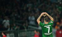 FUSSBALL   1. BUNDESLIGA    SAISON 2012/2013    8. Spieltag   SV Werder Bremen - Borussia Moenchengladbach  07.10.2012 Marko Arnautovic (SV Werder Bremen) bejubelt seinen Treffer zum 2:0