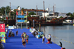 PUERTO VALLARTA, MEXICO - OCTOBER 23:  General view of the Women's Triathlon competition on Day Eight of the XVI Pan American Games on October 23, 2011 in Puerto Vallarta, Mexico.  (Photo by Donald Miralle for Mexsport) *** Local Caption ***