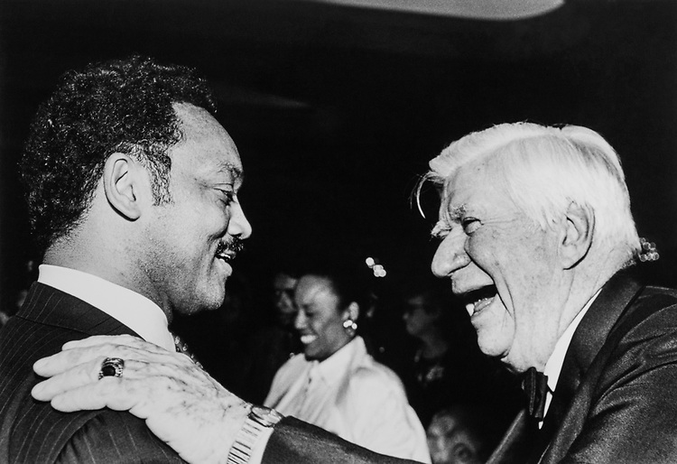 Presidential Candidate Rev. Jesse Jackson with Speaker of the House Rep. Tip O'Neill, D-Mass. 1984 (Photo by CQ Roll Call via Getty Images)