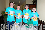 Charity auction: Pictured at the Charity Auction in aid of Crumlin Childre's Hospital organised by St. Michael's College, Listowel were the cash collectors Cathal Kennelly, Sam Tarrant, Joseph Gleeson & Jack Hennessy.