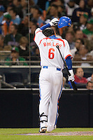 15 March 2009: #6 Bum Ho Lee of Korea is seen at bat during the 2009 World Baseball Classic Pool 1 game 2 at Petco Park in San Diego, California, USA. Korea wins 8-2 over Mexico.