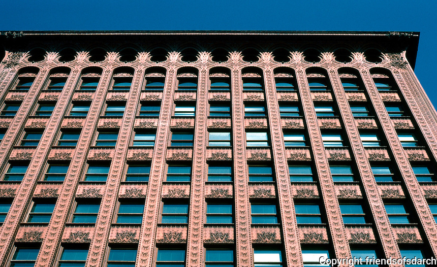 Louis Sullivan: Guaranty Bldg. Facade.  Photo '88.