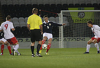 Ross Perry in the Scotland v Luxembourg UEFA Under 21 international qualifying match at St Mirren Park, Paisley on 6.9.12.